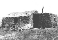sod house on prairie
