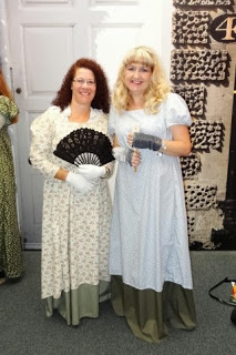 Rachel and Friend at Austen Festival in Bath